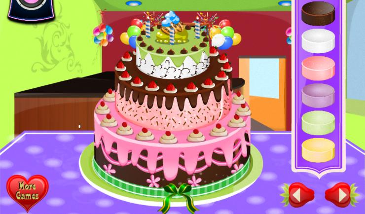 عکس بازی طراحی کیک تولد