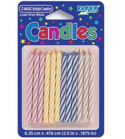 بسته ۱۲ تایی شمع کیک تولد