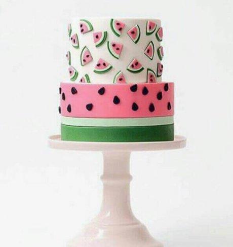 کیک هندونه دوطبقه