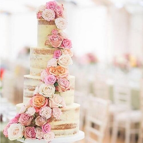 کیک عروسی بزرگ