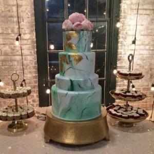 کیک آبی عروسی