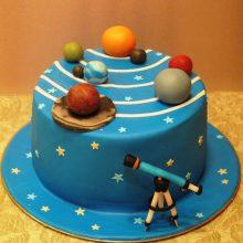 کیک تولد ستاره شناسی تم علمی