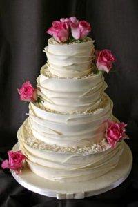 کیک عروسی رمانتیک