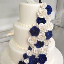 کیک سفره عقد دو رنگ