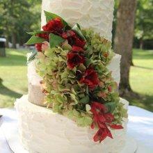 کیک عروسی گل دار