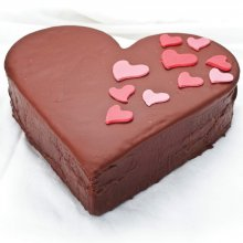 کیک قلبی کاکائویی