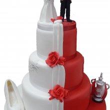 کیک عروسی دو رنگ