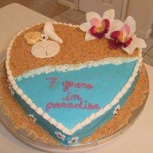 کیک دورنگ جشن سالگرد ازدواج