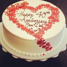 کیک جشن ازدواج طرح قلب