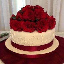 کیک سالگرد ازدواج طرح گل