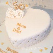 کیک جشن ازدواج تم طلایی