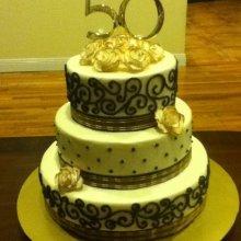 کیک طلایی سالگرد ازدواج