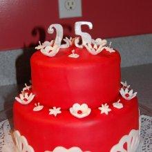 کیک جشن ازدواج دوطبقه