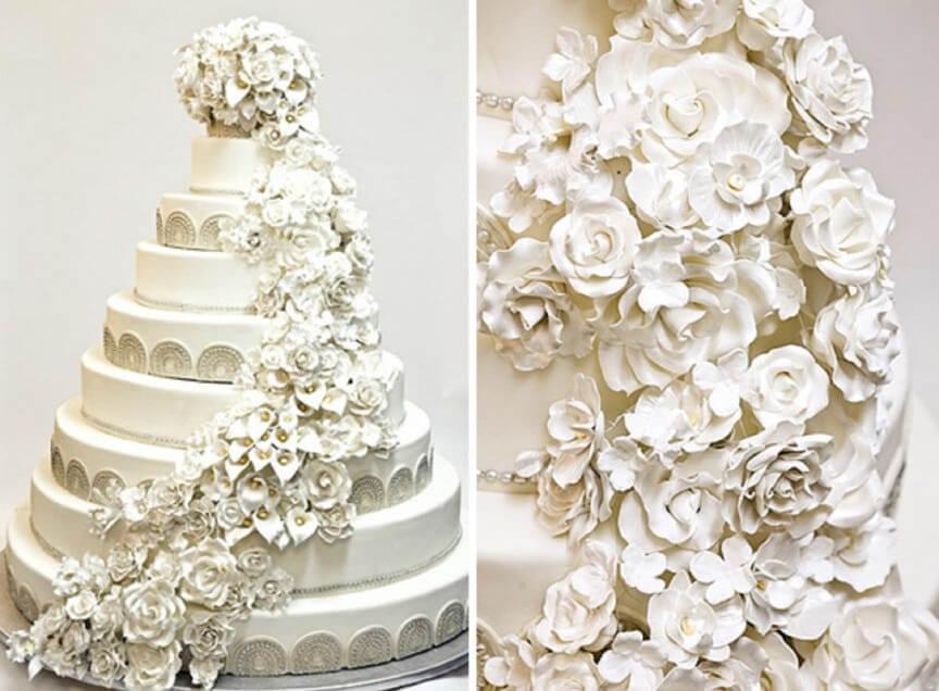 کیک لاکچری ساخته ناهید پارسایی از گرانترین کیک های عروسی دنیا
