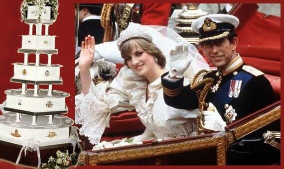 عکس کیک عروسی پرنسس دیانا و پرنس چارلز