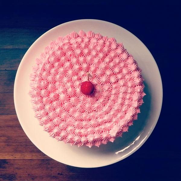 عکاسی از کیک با الگو