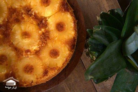 کیک آناناس کیک خونه