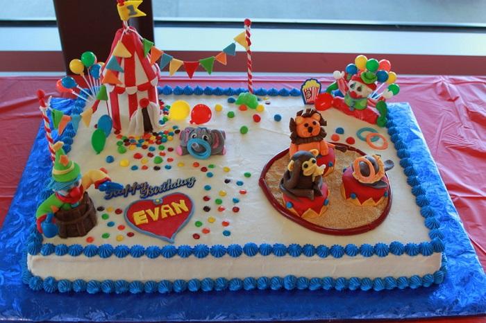 طراحی کیک تولد با تم سیرک