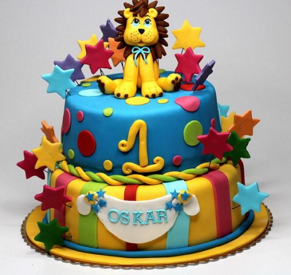 کیک تولد با تم سیرک و حیوانات