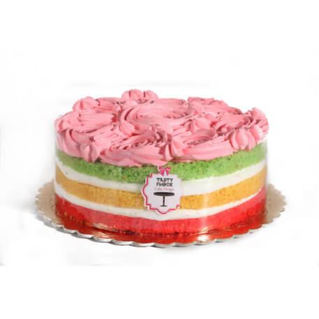 کیک رنگین کمان آرد خوشمزه