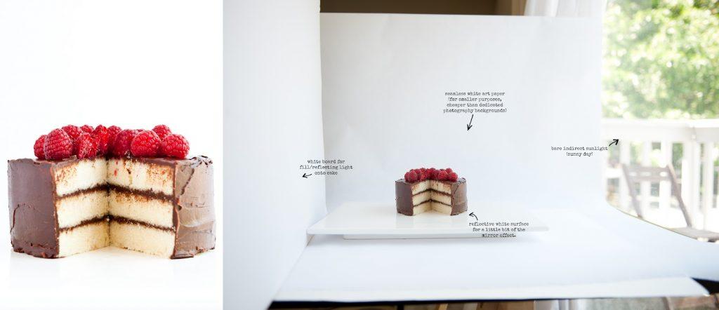 عکاسی حرفه ای از کیک با استفاده از بازتاب